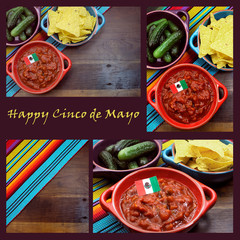 Happy Cinco de Mayo, 5th May, image collage