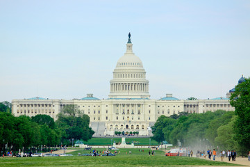 Capitol Building and the Mall in Washington DC