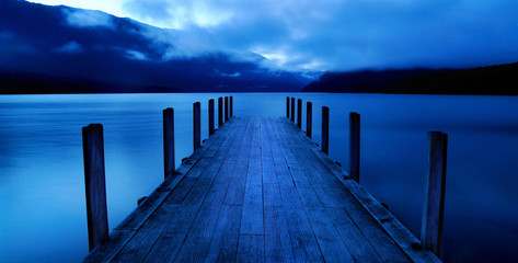 Tranquil Peaceful Lake with Jetty