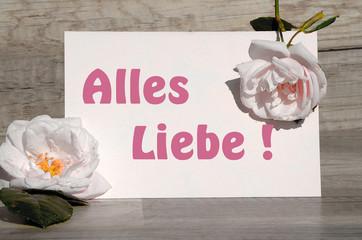Alles Liebe rosa Rosen