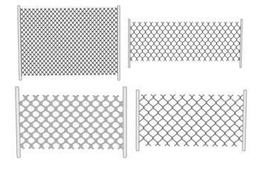 cartoon image of chain fence