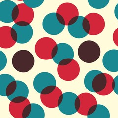 Vector - Illustration of colorful retro circles or bubbles