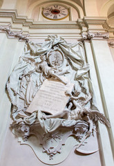 Bolgona - Baroque funeral memorial  in church Saint Dominic