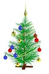 realistic 3d render of christmas tree