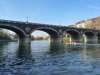 ponte isabella sul fiume po