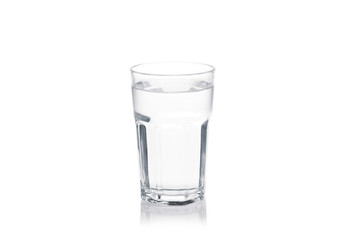 glass of water isolated on a white background.