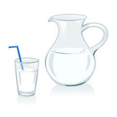 jug and glass with milk
