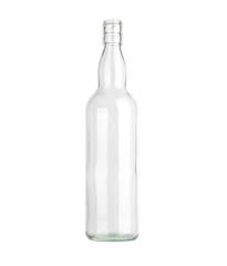 Glass bottles isolated on white background.