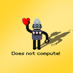 Funny robot confused by love