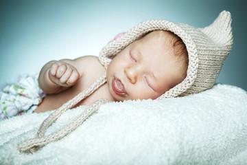 little funny sleepeng baby