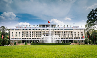 Reunification Palace, landmark in Ho Chi Minh City, Vietnam