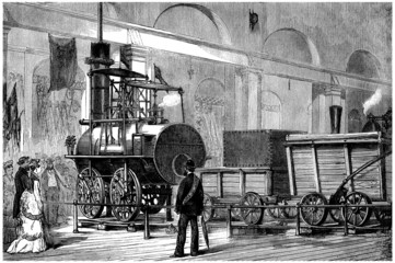 Exposition : the first Locomotive - 19th century