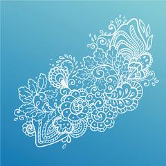 Vector flower background.