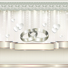 Romantic card for wedding