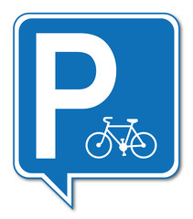 Logo parking vélo.