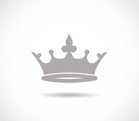 Crown grey icon VECTOR