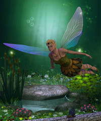 Fairy in Flight