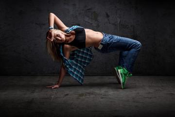 Girl dancing hip hop
