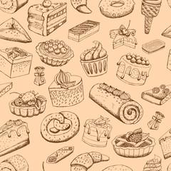 Seamless sweet pastries