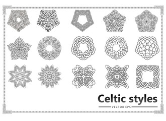 Set of vintage patterns Celts