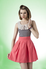 fashion girl with retro style