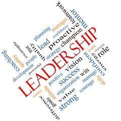 Leadership Word Cloud Concept Angled