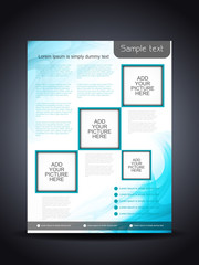 Presentation of elegant flyer or cover design.