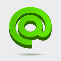 Mail Dog Abstract Symbol in 3D Style. Vector