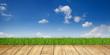 Landschaft / Himmel / Gras / Holz