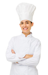Female Chef Standing Arms Crossed