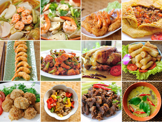 Thailand food variety