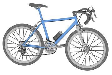 cartoon image of racing bike