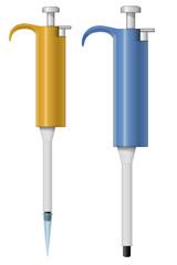 Automatic pipette illustration
