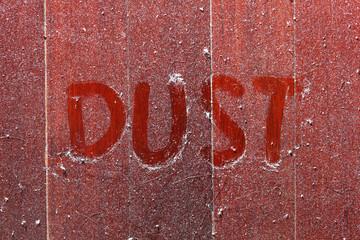 Dust on wooden floor