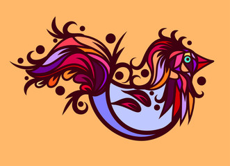 Vector stylized bird