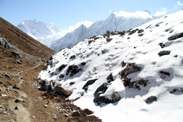 Footpath in mountain