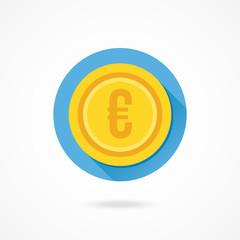 Vector Gold Coin Euro Icon