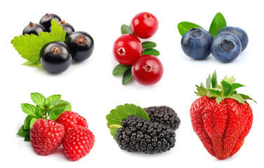 Collage of berry