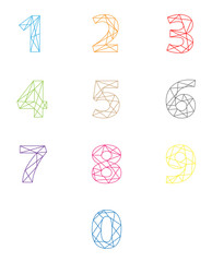 colorful stitched numbers