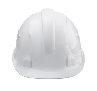 White hard hat - front view