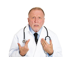 Doctor is it my fault? Senior health care professional in denial