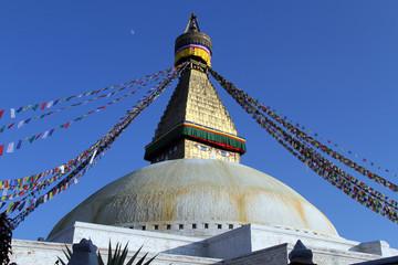Moon and stupa