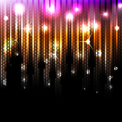 Vector abstract glowing disco background. Eps10