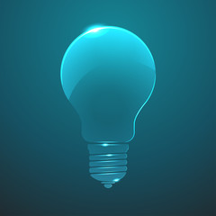 Vector glass  lightbulb icon. Eps10