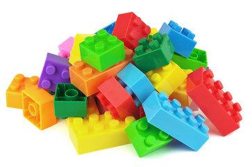 Toy colorful plastic blocks