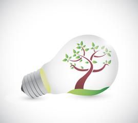 light bulb and tree illustration design