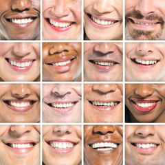 Beautiful Smiles of Multi-Ethnic Group of People