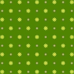 70s Seamless pattern wallpaper green polka flowers