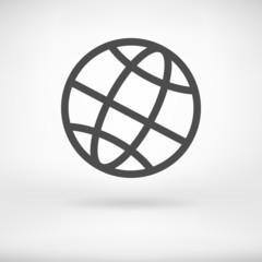 Globe sign icon vector