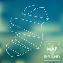 stylized map of ireland